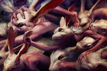 Ryohei Hase Art Rabbits Go Forward