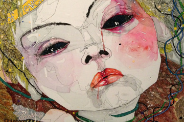 Del Kathryn Barton Australian Artist Painting Detail
