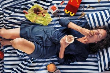 Lee Price Figurative Realism Painting Self-Portrait Beautifulbizzare