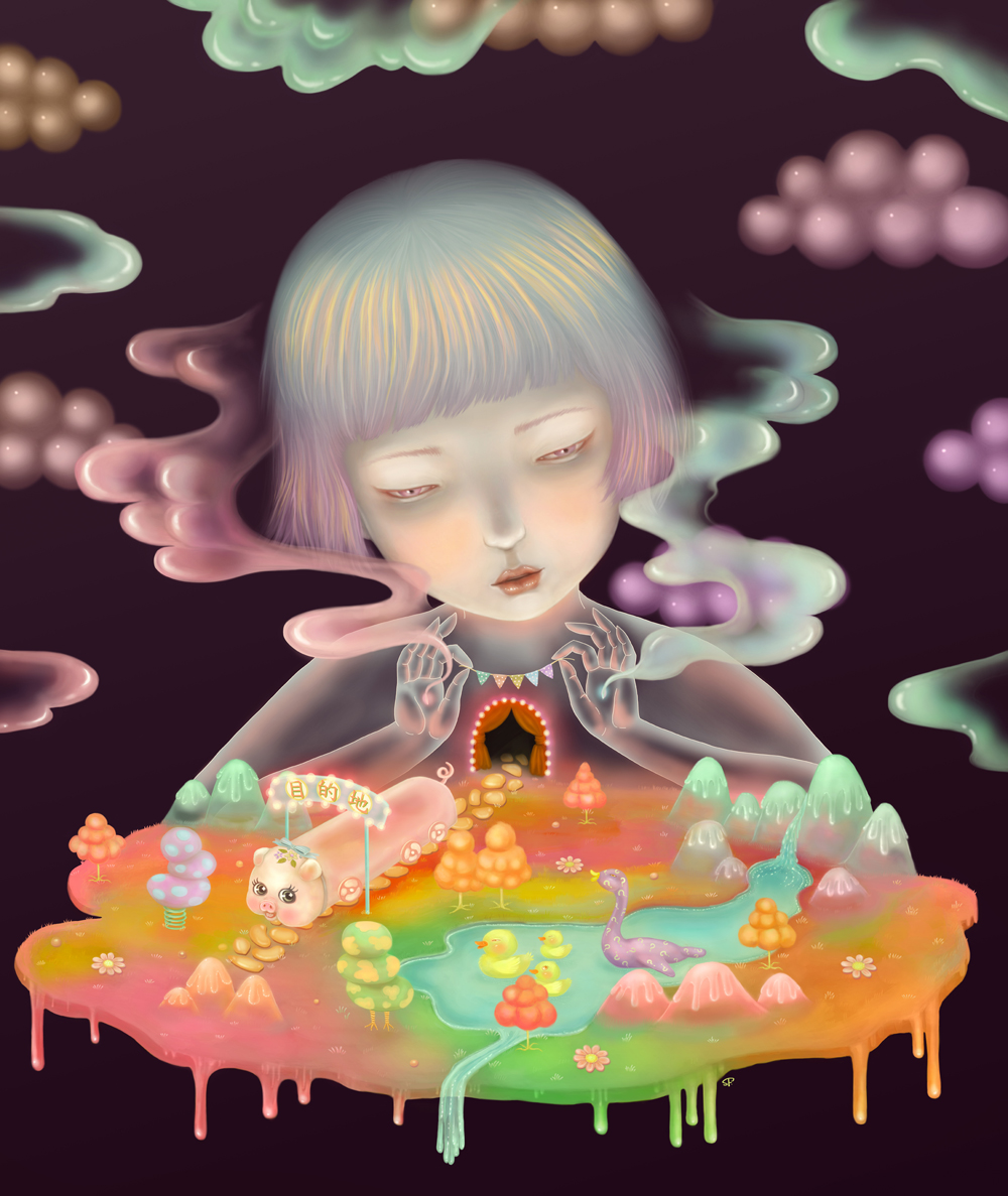 sonya fu - digital painting - beautiful bizarre art magazine interview