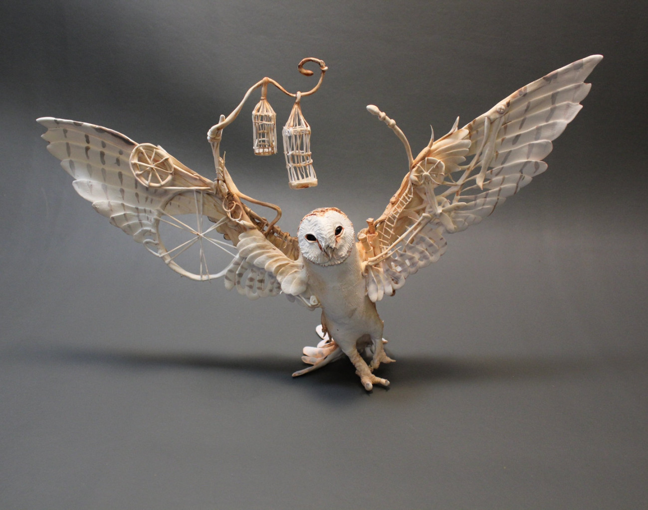 The Mythical Animals of Ellen Jewett: Sculpture Brought to ... Labyrinth Owl Tattoo