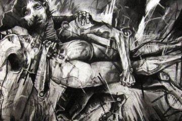 Expressive charcoal portraits by Joseph Loughborough