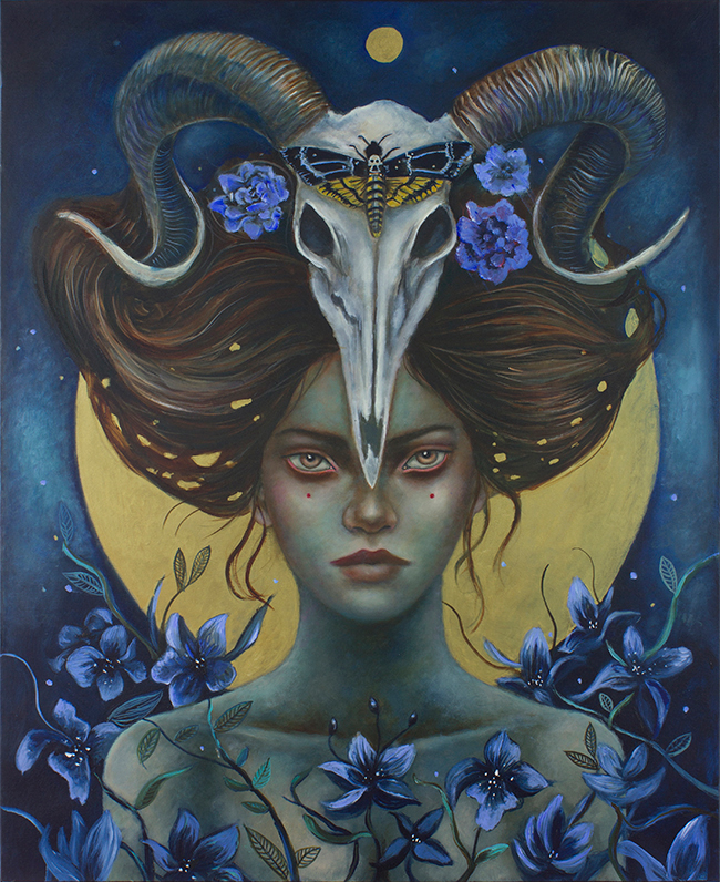 "The Spell by Ingrid Tusell - ""Celestial"" group exhibition at Alexi Era Gallery - preview by beautiful.bizarre"