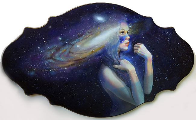 "Andromeda by Jel Ena - A part of ""Celestial"" group exhibition at Alexi Era Gallery - preview by beautiful.bizarre"