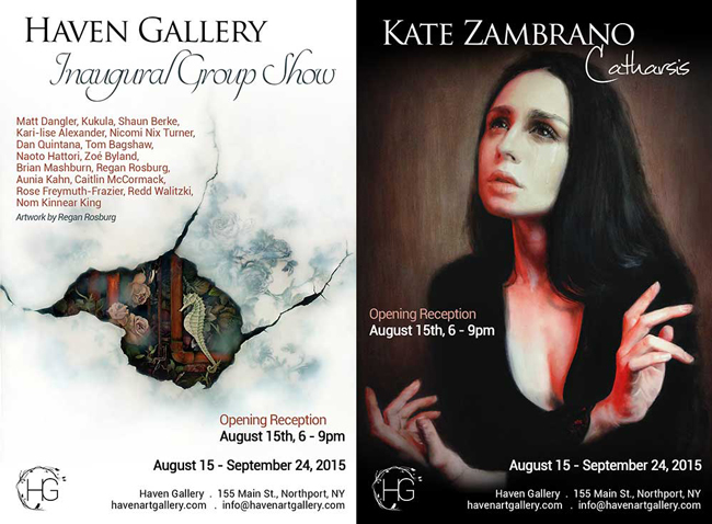 """Haven Inaugural Groups Show and Kate Zambrano's Solo Show 'Catharsis"""" @ Haven Gallery, Northport, NY - preview by beautiful.bizarre"""