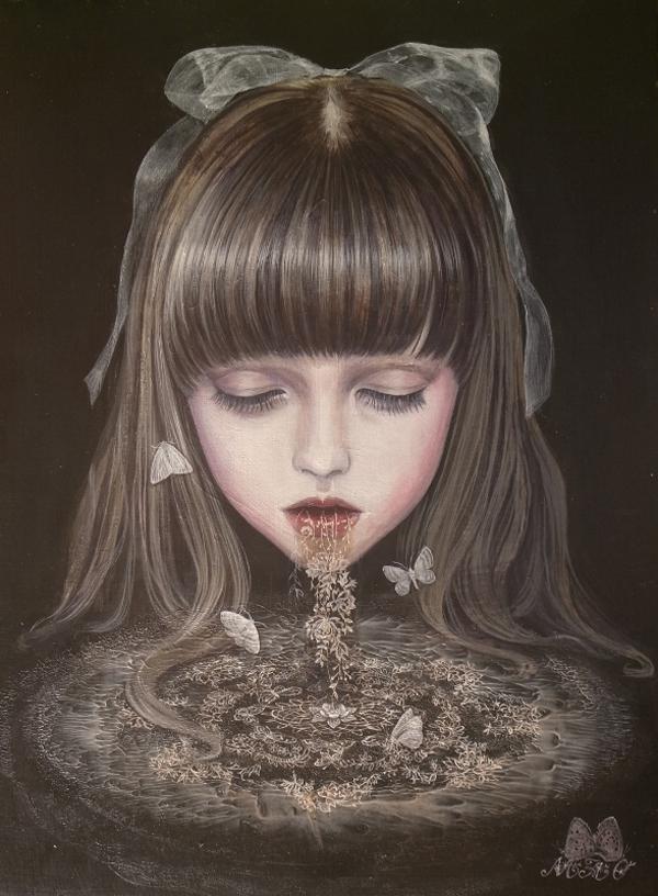 Mao Hamaguchi @ Jiro Miura Gallery via beautiful.bizarre