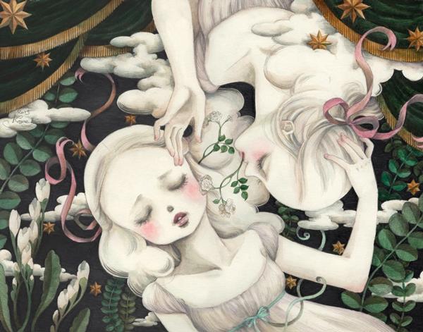 Kozue Kuroki - ephemeral ~ Territory of girls 「ephemeral~少女たちの領域」 @ Jiro Miura Gallery - via beautiful.bizarre