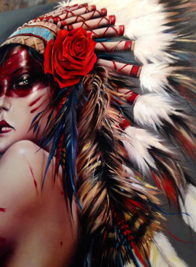 Beautiful Bizarre, Gallery, Show, Brian Viveros, Viveros, Dirtyland, Pretty in Plastic, Thinkspace, Thinkspace Gallery, Art, Artist, Painting, Women, Power