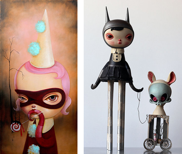 Kathie Olivas @ Baker Hesseldenz via beautiful.bizarre