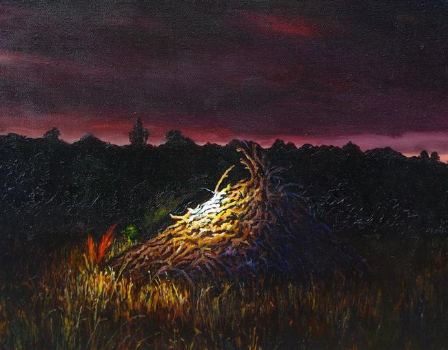 Ben Sheers - Pyre   Night @ 19Karen Contemporary Artspace - via beautiful.bizarre