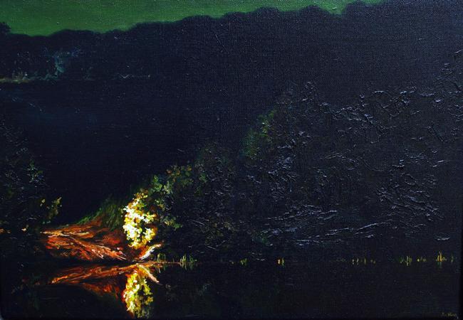 Ben Sheers - Edge of Night   Night @ 19Karen Contemporary Artspace - via beautiful.bizarre