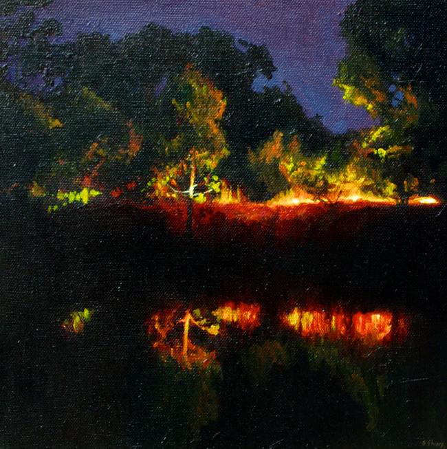 Ben Sheers - Dam Reflection   Night @ 19Karen Contemporary Artspace - via beautiful.bizarre