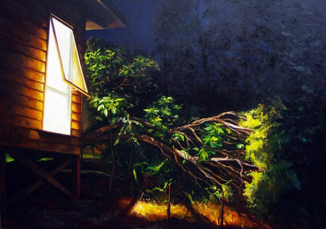 Ben Sheers - Studio at Night   Night @ 19Karen Contemporary Artspace - via beautiful.bizarre