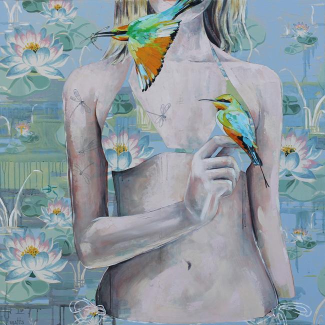 Jessica Watts - A Good Catch   Debutante @ 19Karen Contemporary Artspace - via beautiful.bizarre