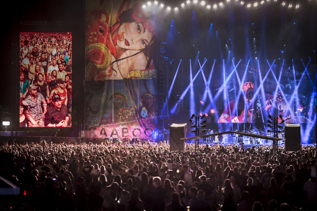 The inaugural 2015 Kaaboo music festival at the Del Mar fairgrounds in San Diego, California. The three day weekend featured over 100 musical acts, comedians, and artists. Headlining the festival were No Doubt, The Zach Brown Band, and the Killers.
