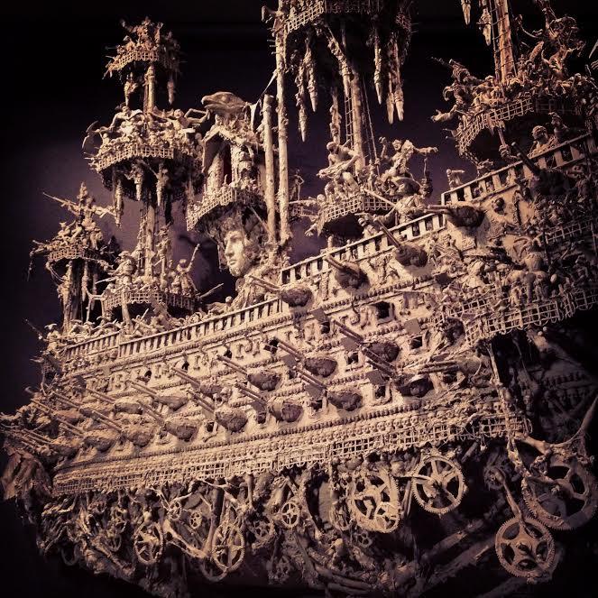 jason stieva, ark of the apocalypse, shallow grave studios, assemblage art, gothic art, dark art, skull art