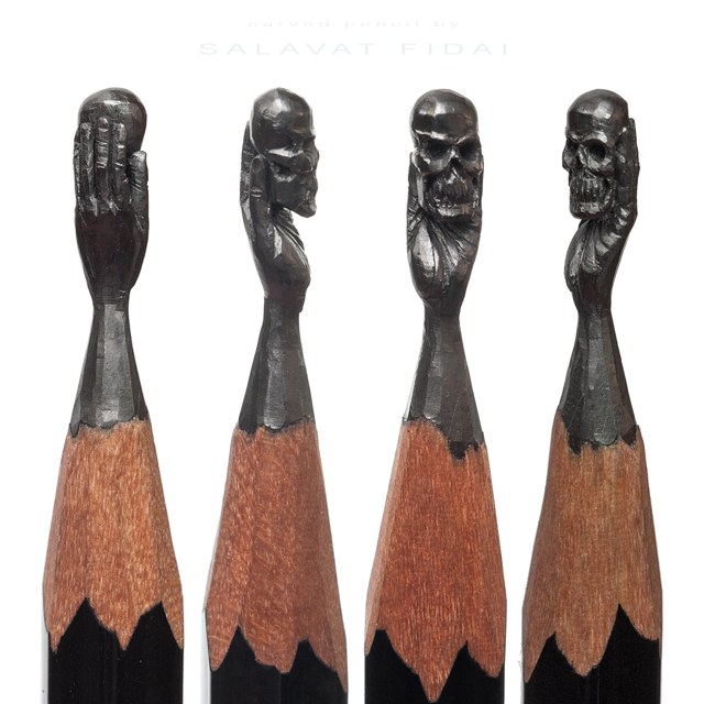 Salavat Fidai's Pencil-Tip Micro-Sculptures