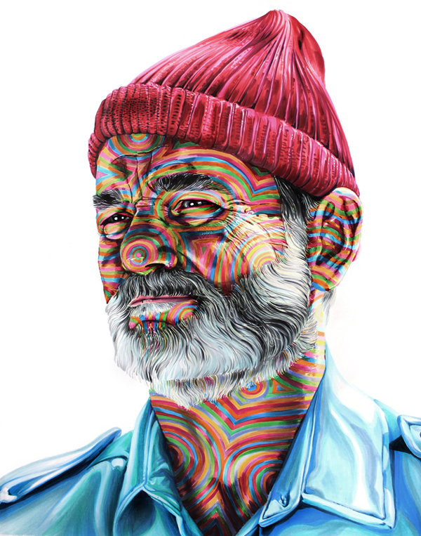 'Steve Zissou' by Joshua Roman - Prints on Wood Show @ Distinction Gallery, Escondido - via beautiful.bizarre