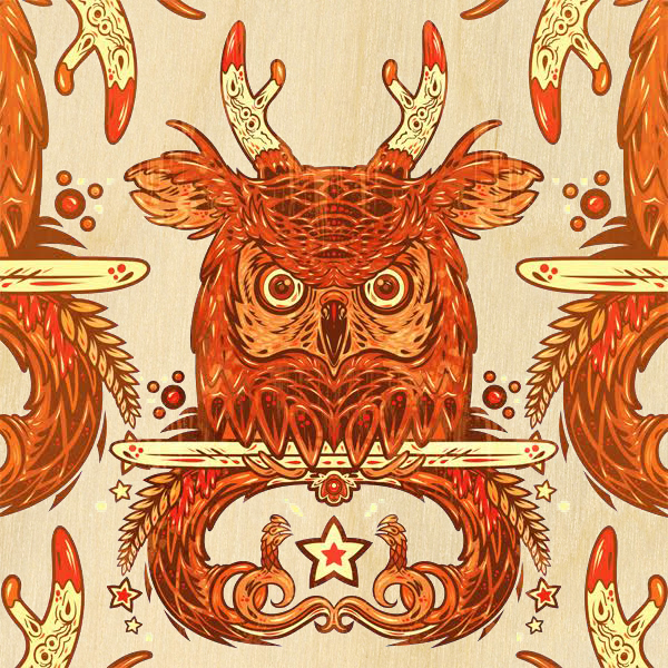 'Owl Jack' by Nick Beery - Prints on Wood Show @ Distinction Gallery, Escondido