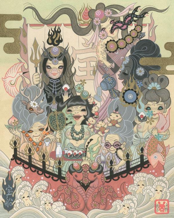 "Junko Mizuno: ""Takarabune"" at Gallery Nucleus - via beautiful.bizarre"