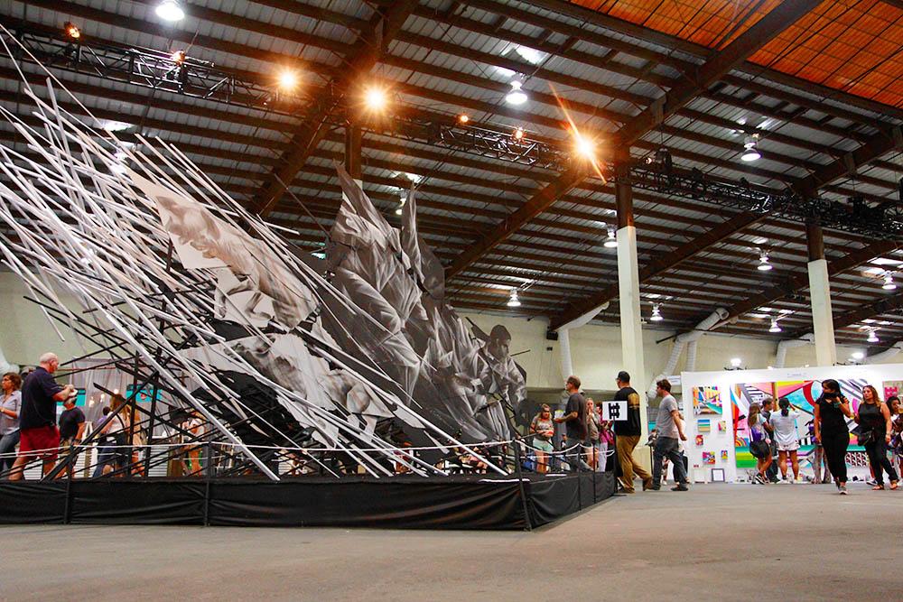 KAABOO Del Mar, Aaron Li Hill artwork, Photo by Derek Hackett