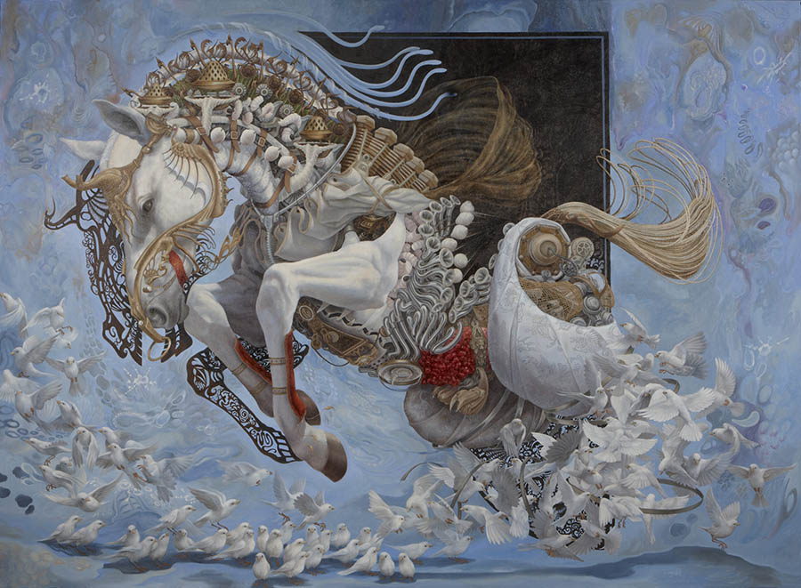 Heidi Taillefer surreal horse painting