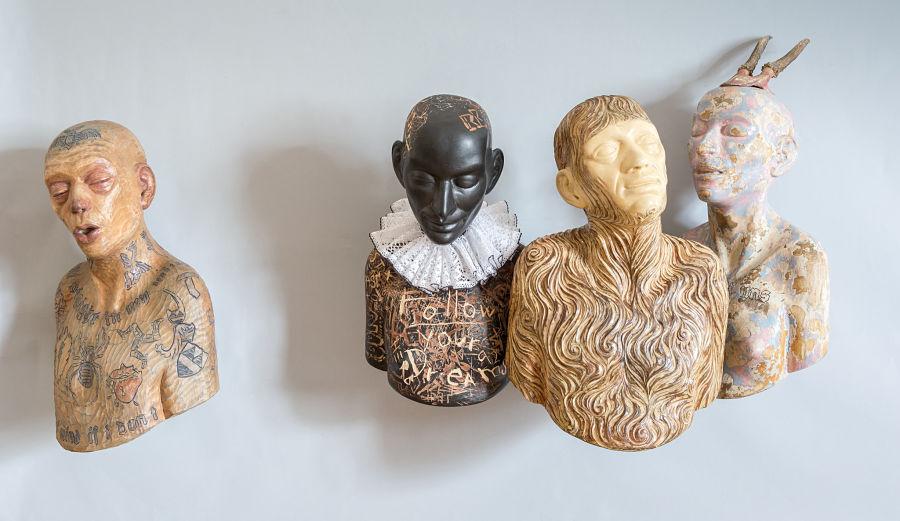 richard stipl surreal sculpture figures