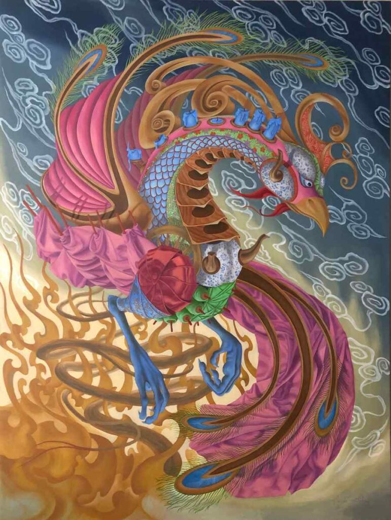 Heidi Taillefer painting of Phoenix
