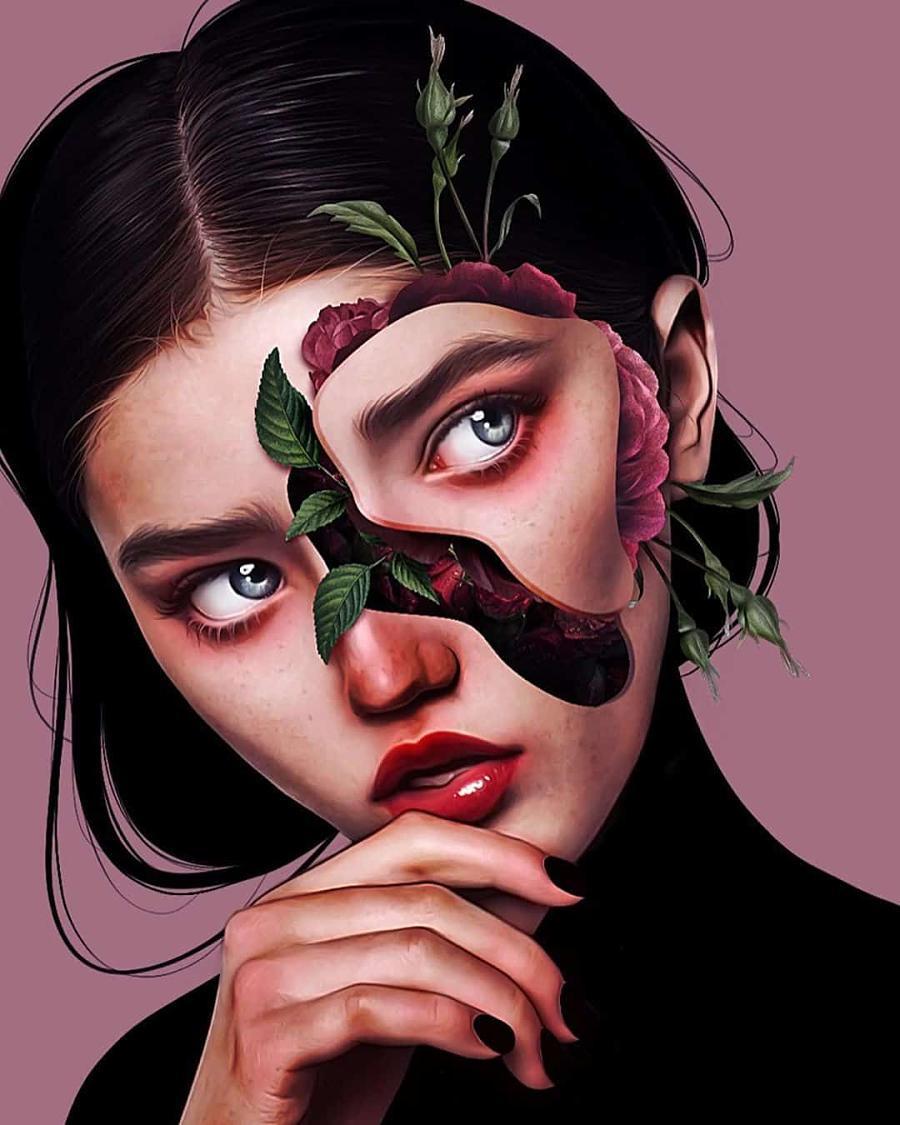 laura h rubin digital portrait