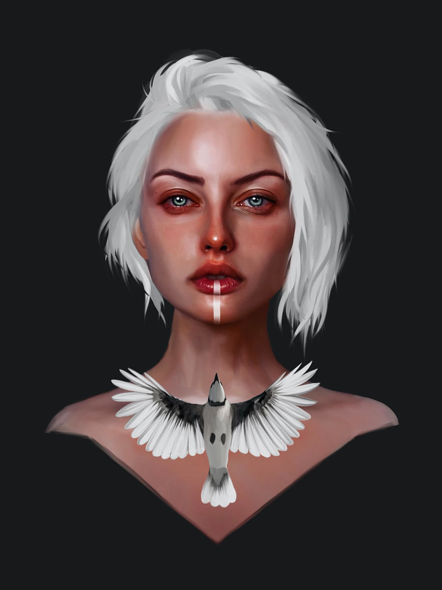 laura h rubin digital portrait eva