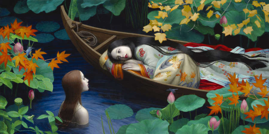 Chie Yoshii woman in boat water