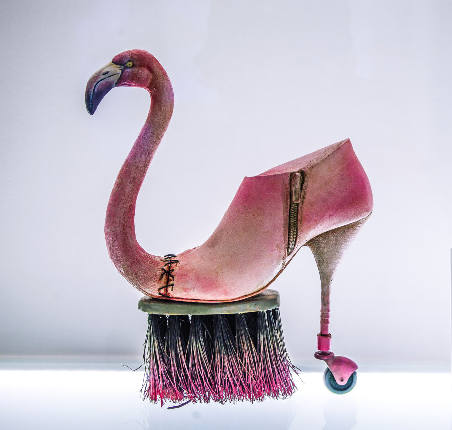 Costa magarakis strange pink shoe sculpture