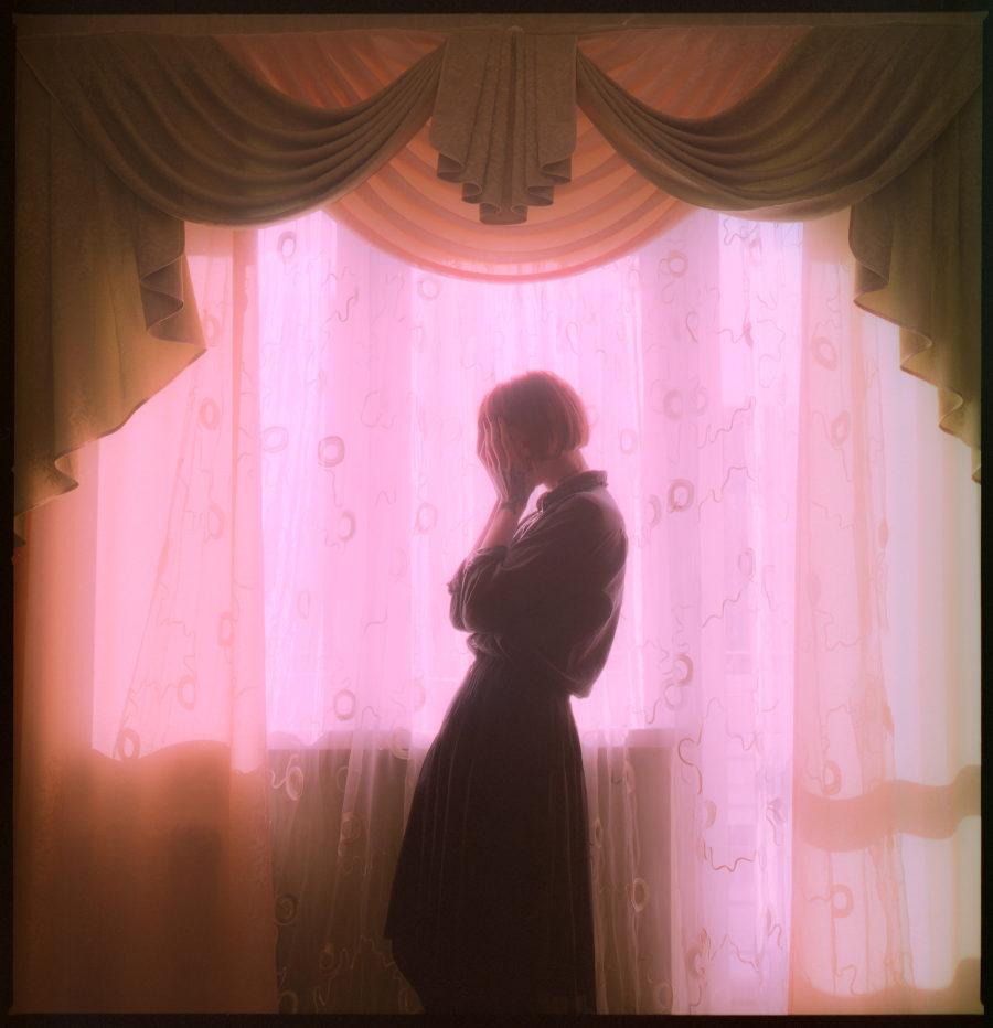 Daria Adamitskaya pink photography portrait