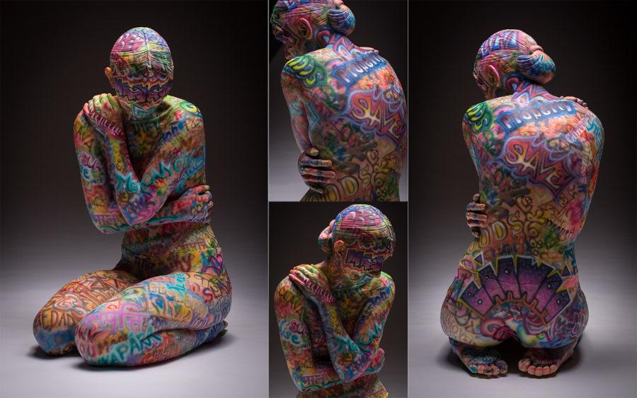 Coline Kristine Poole graffiti sculpture