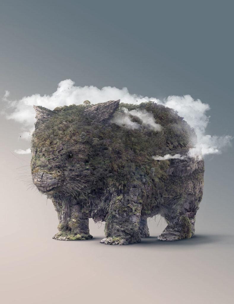 Josh Dykgraaf photomanipulation surreal digital animal art