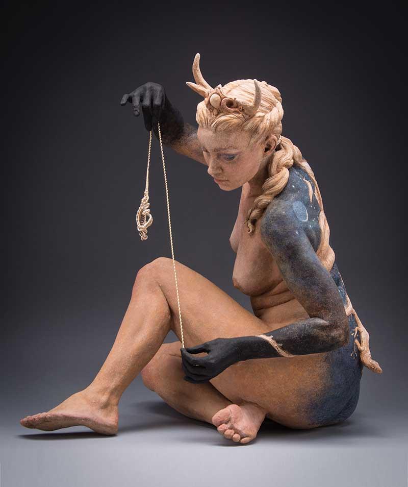 Kristine Colin Poole nude woman sculpture