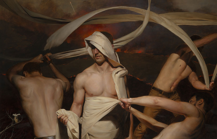 'Come Forth', Oil on linen by Ernest Vincent Wood III